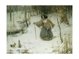 The Snow Queen Giclee Print by Thomas Bromley Blacklock