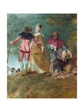 Detail of Pilgrimage on the Isle of Cythera Giclee Print by Antoine Watteau