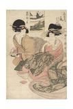 The Courtesan Tsukasa of giya Giclee Print by Kitagawa Utamaro