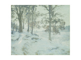 Lingering Oak Leaves Giclee Print by Walter Launt Palmer