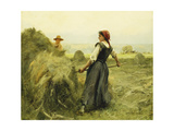 Haymaking Giclee Print by Julien Dupre