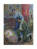 The First Sight of His Son Giclee Print by Harold Copping
