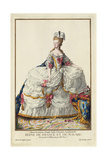 Marie Antoinette, Queen of France and Navare Giclee Print by Pierre Duflos