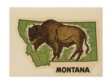 Montana Travel Decal Giclee Print