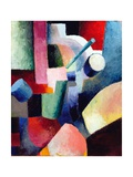 Colored Composition of Forms Giclée-tryk af Auguste Macke