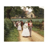 The Wedding March Giclee Print by Edmund Blair Leighton