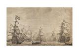The Dutch Fleet under Sail Giclee Print by Willem Van De Velde the Elder