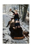 A Jolly Sleigh Ride Giclee Print by Frans De Wilde