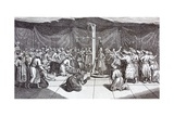 Ceremony of Weighing the Great Moghul on His Birthday Giclee Print by J. Roberts