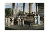 Concert at the Saratoga Springs Racetrack, New York Giclee Print by Franz Dvorak