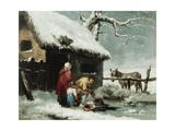 Breaking the Ice Giclee Print by George Morland