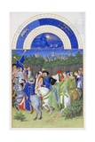 Très Riches Heures Du Duc De Berry: Month of May Giclee Print by Frères Limbourg