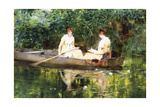 Women in a Rowboat Giclee Print by Francis Coates Jones