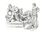 Illustration of a Scene from Measure for Measure Giclee Print by John Moyr Smith