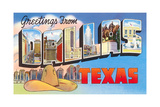 Greetings from Dallas, Texas Giclee Print