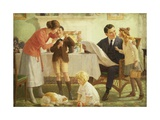 Leaving for School Giclee Print by Percy Tarrant
