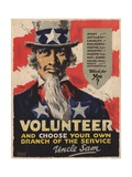 Volunteer Recruitment Poster Giclee Print by Arthur N. Edrop