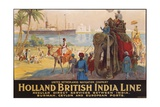 Holland British India Line Poster Impression giclée par E.V. Hove