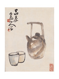 Teapot and Cups Giclee Print by Wang Zhen