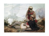 The Death of Arthur Giclee Print by John Mulcaster Carrick