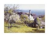 Springtime, Devon Giclée-Druck von John White