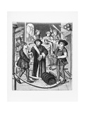 Copy of a 15th-Century Stained Glass Window in Tournai Cathedral Giclee Print