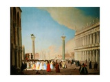 The Piazzetta in Venice, Looking South Giclee Print by Luca Carlevariis