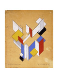 The Construction of Space - Time III Giclee Print by Theo Van Doesburg