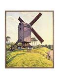 Kalf Windmill Giclee Print by Theo van Rysselberghe