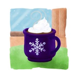 A Delicious Cup of Hot Cocoa Complete with Whip Cream Giclee Print