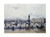 A View of the Place De La Concorde, Paris Giclee Print by Anna Sofia Palm