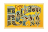 Greetings from Rockaway Park, New York Giclee Print