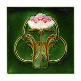 Art Nouveau Decorative Tile Giclee Print