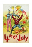 4th of July Postcard Giclee Print