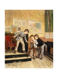Filling the Inkwells Giclee Print by Theophile Emmanuel Duverger