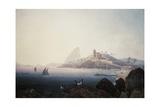 View of the Gloria Church and Sugarloaf Mountain, Rio De Janeiro Impression giclée par Thomas Ender
