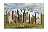 Greetings from Dayton, Ohio Giclee Print
