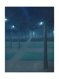 Nocturne in the Parc Royal, Brussels Impression giclée par William Degouve De Nuncques