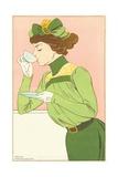 Spring Fashion Postcard Giclee Print by Henri Meunier