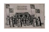 Funeral Cortege of Sir Philip Sidney Giclee Print by Theodor de Bry