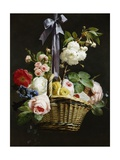 A Romantic Basket of Flowers Giclee Print by Antoine Berjon