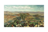 Plain of Esdraelon from Heights Above Nazareth, Israel Giclee Print by William Holman Hunt