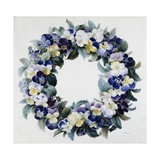 A Garland of Pansies Giclee Print by Antoine Pascal