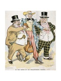 Illustration of Trusts and Monopolies Pickpocketing Uncle Sam Giclee Print by J.C. Taytor