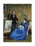 In the Artist's Studio Giclee Print by Gustave Leonhard de Jonghe