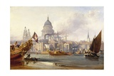 St. Paul's Cathedral and the City of London, England Giclee Print by George Chambers