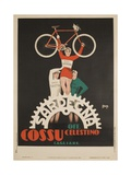 Bicycles Cossu Sardegna, Italian Advertising Poster Stampa giclée