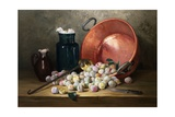 A Still Life of Plums and Jam-Making Utensils Giclee Print by Paul Gagneux