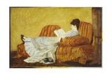 Young Lady Reading Giclee Print by Mary Cassatt