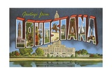 Greetings from Louisiana Giclee Print